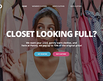 Whipped up a quick landing page for a clothing company