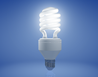 Energy saving bulb - 3D visualization