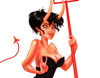 Devil Girl Pin Up