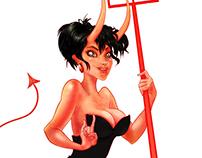 Devil Girl Pin Up