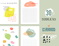 30 templates of cute cards