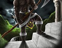 Barbarian RPG Character