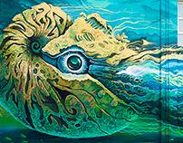 """my Mural """"Nautilus""""2018"""