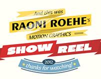 Video Reel 2012