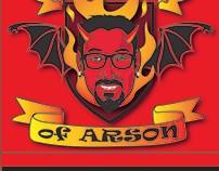 Art of Arson Matchbook Illustration