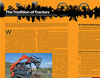 Compact Equipment Magazine Page Layout Design