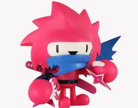 KidRobot Exclusive PinkEdition Ninja spiki