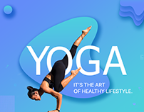 Fitness website landing page