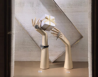 Pen & Paper . High-end Jewelry brand paper art props