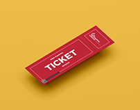Free Ticket Mockup