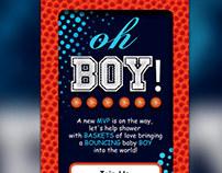 Basketball Baby Shower Invitation