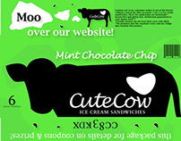 Cute Cow Ice Cream Sandwiches Packaging