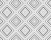 Line cube pattern