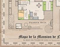 Mapa de la Mansion de Nacion - Treasure Hunting Map