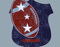 american football college sports retro badge vector art