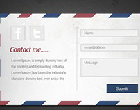 Postcard Contact Form PSD