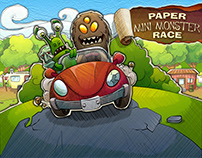 Paper Mini Monster Race
