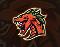 Mighty Dragon Mascot Logo | Sold