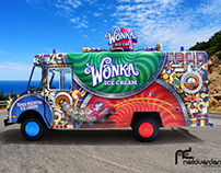 Wonka Ice cream Van Livery - Award winning