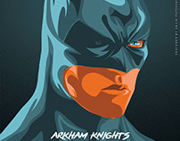 ARKHAM KNIGHTS | ILLUSTRATIVE POSTER DESIGN