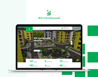 Landing page design for new buildings