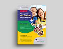 Kids Admission Flyer Template