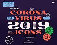 FREE!! CORONAVIRUS (COVID-19) ICONS