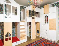 Дом-кровать для детской комнаты