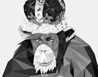 Watson Monkey Poster - Art Print