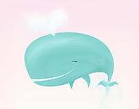 """Illustration """"Having a Whale of aTime"""""""