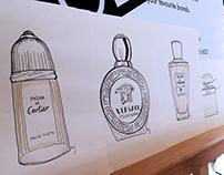 Live Perfume Illustrations - Harvey Nichols Event