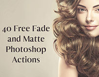40 Free Fade and Matte Photoshop Actions