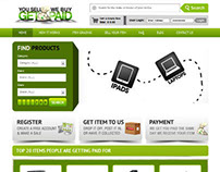 Get Paid home page design