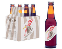 Roosters Rise Beer packaging