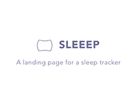 Sleeep - Landing Page for a sleep tracker