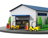 Warehouse 3D illustration