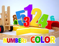 Learn colors, Counting with Numbers City