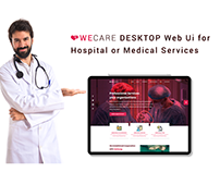 Wecare Web UI for Hospital or Medical Services