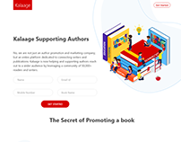 Kalaage - Connecting Writers & Publishers Landing Page