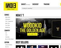 Indie Music Store Design Concept