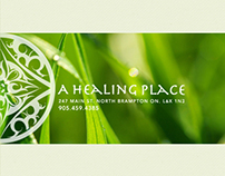 A Healing Place: Identity. Web-UI design. Print.