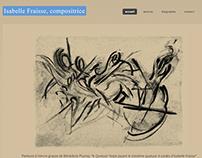 2015-Website for Isabelle Fraisse