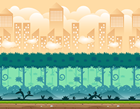 city and forest