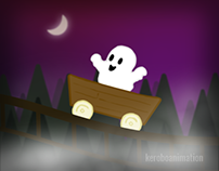 """Halloween GIF - """"Spectre On A Rollercoaster"""""""
