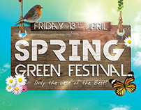 Spring Party Flyer • Spring Green Festival