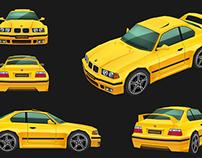 BMW E36 (LowPoly)