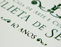 Convite & Envelope | 10 Anos JDS