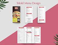 Trifold Menu Design.