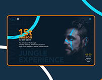 UI design of Jungle Experience movie