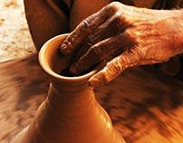 Photo story on a pottery artist.